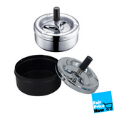 cigarette ashtray with spinning black tra