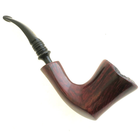Erik Nording Burgundy Grain #3 Handmade Smoking Pipe