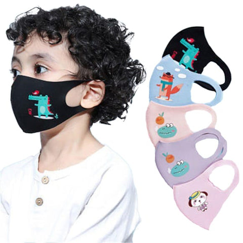 Reusable Child Cartoon Face Mask