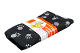 Black and Gray Microfiber Pet Towel