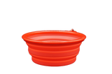 Collapsible Pet Food Water Dish For Traveling Red