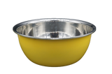 Large Bonita Stainless Steel Dog Bowl (Yellow)