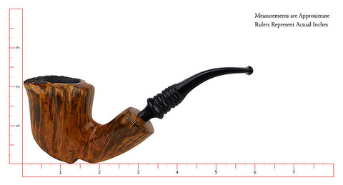 "Erik Nording Smoking Pipe Black ""Grain #3"""