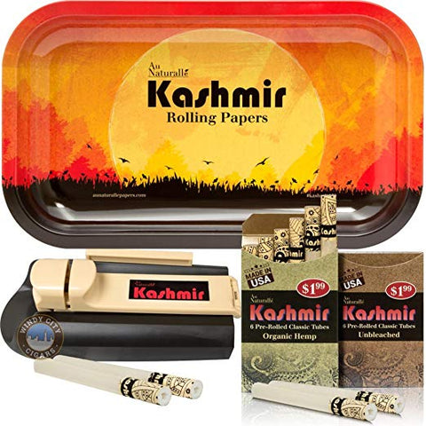 Rolling Papers With Filters Pre Rolled Cigarette Tubes With Tray and Injector machine By Kashmir (SunRise) 10x6
