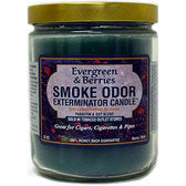 Smoke Odor Exterminator Candle - Evergreen and Berries-13oz