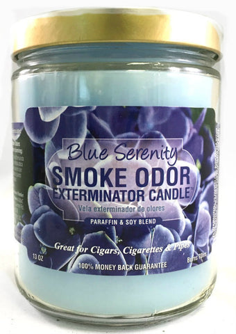 Smoke Odor Exterminator Candle - Blue Serenity-13oz
