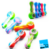 Silicone Hand Pipe with GlassBowl 4.5""