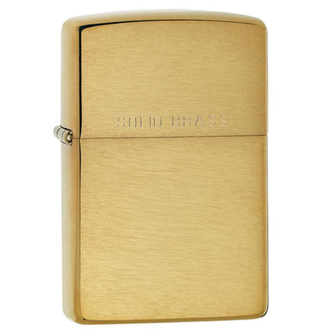 Classic Zippo Brushed Solid Brass 11Z204