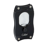 Colibri Cut Double Guillotine Cigar Cutter - Rubberized Grip - Black and Black Blades