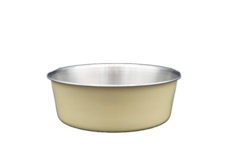 Tan Stainless Steel Dog Bowl