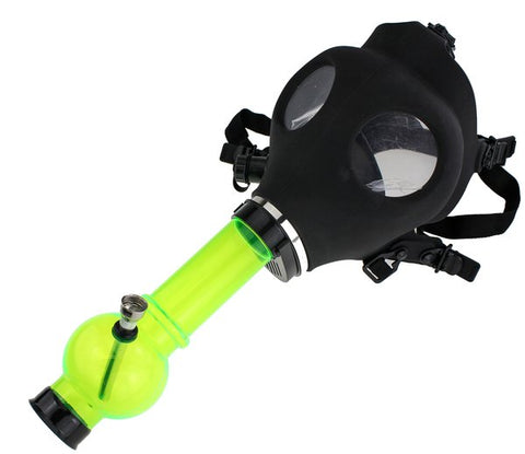 Silicone Mask Acrylic Bong  Water Pipe Black