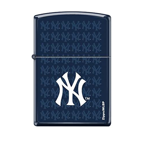 "Zippo""New York Yankees"" Lighter, Navy Blue 11ZM14704"