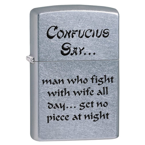 Zippo Confucius Say Wife Lighter 11Z28460