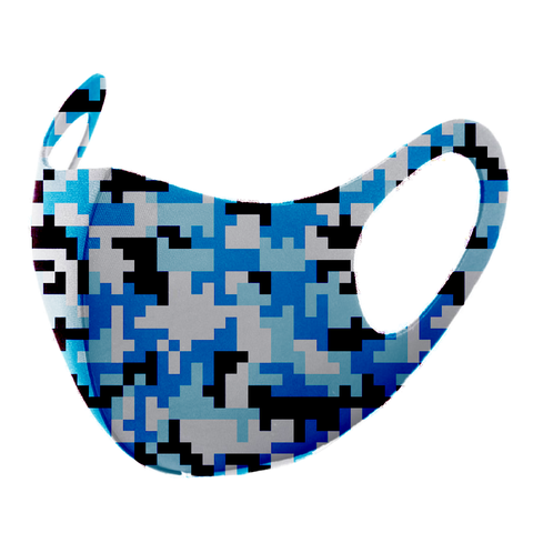 NYLON REUSABLE DIGITAL BLUE CAMO FASHION MASK