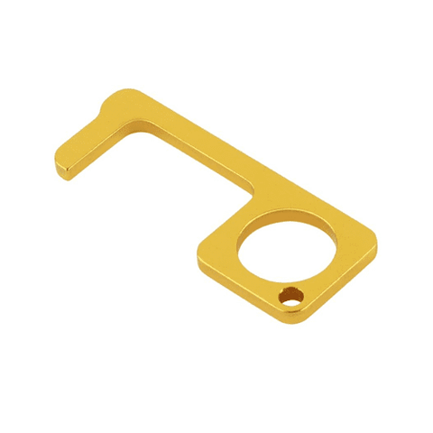 Brass No Touch Door Opener Keychain