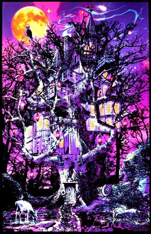 Tree house black light poster