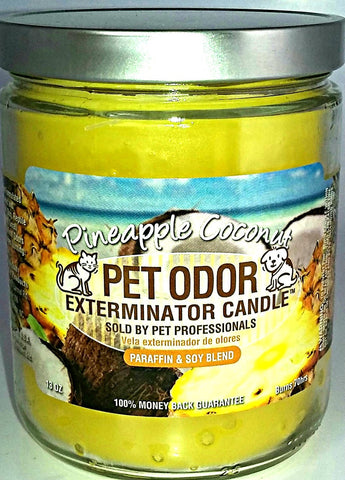 Pineapple Coconut Pet Odor Exterminator Candle
