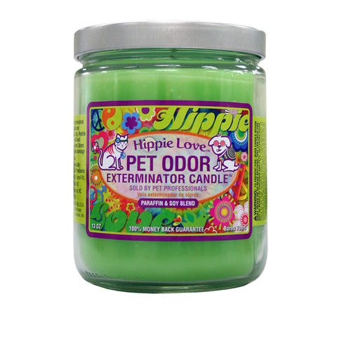 Hippie Love Pet Odor Exterminator Candle - 13oz