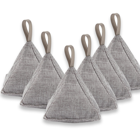 Kashmir Pyramid Bamboo Charcoal Home Air Purifier - 6 PACK