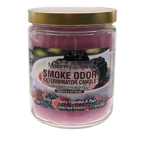 Smoke Odor Exterminator Candle - Mulberry and Spice 13oz