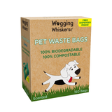 Wagging Whiskers Poop Bags for Dogs Biodegradable 150 bags