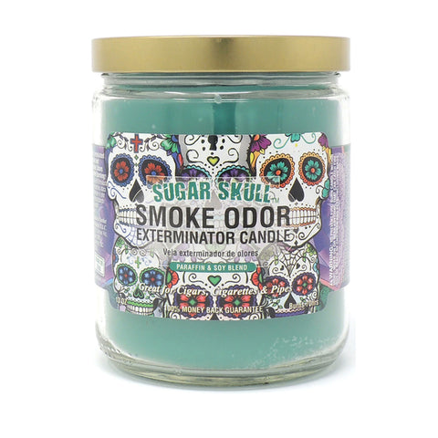 Smoke Odor Exterminator Candle Sugar Skull 13oz