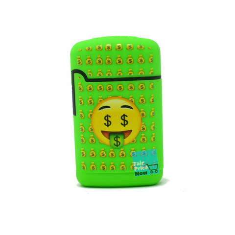 Green Emoji Torch Lighter