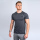Wonky Charcoal Grey Athletic Fit Tee