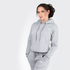 Pebble Grey Crop Hoodie