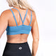 Electric Blue Seamless Sports Bra