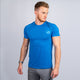 Wonky Marine Blue Athletic Fit Tee