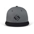 BettySwollox Grey & Black flat peak cap - front view