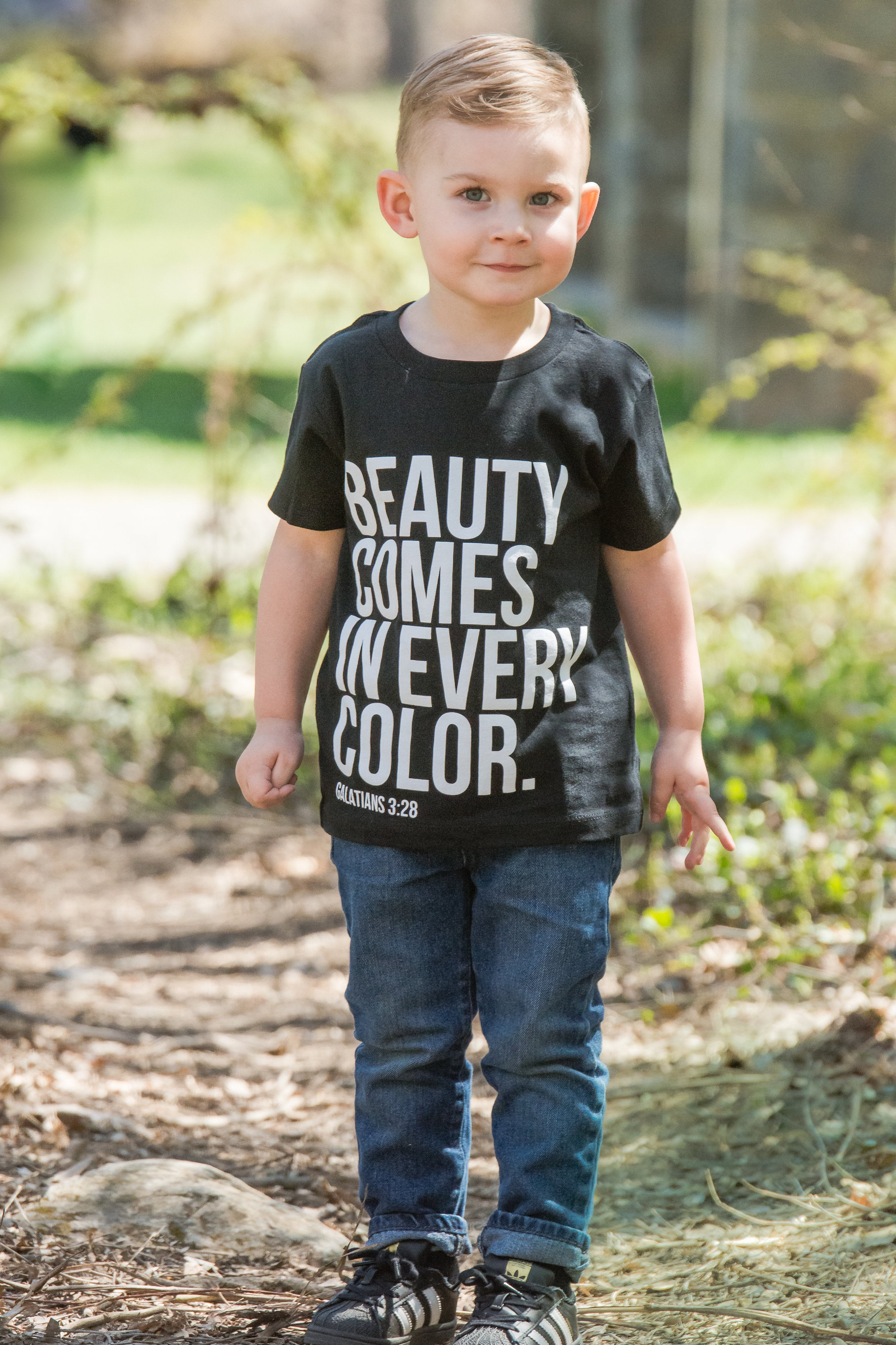 Beauty Comes in Every Color Toddler Tee