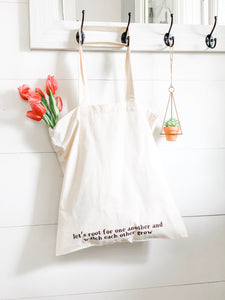 Let's Root For One Another Market Tote Bag