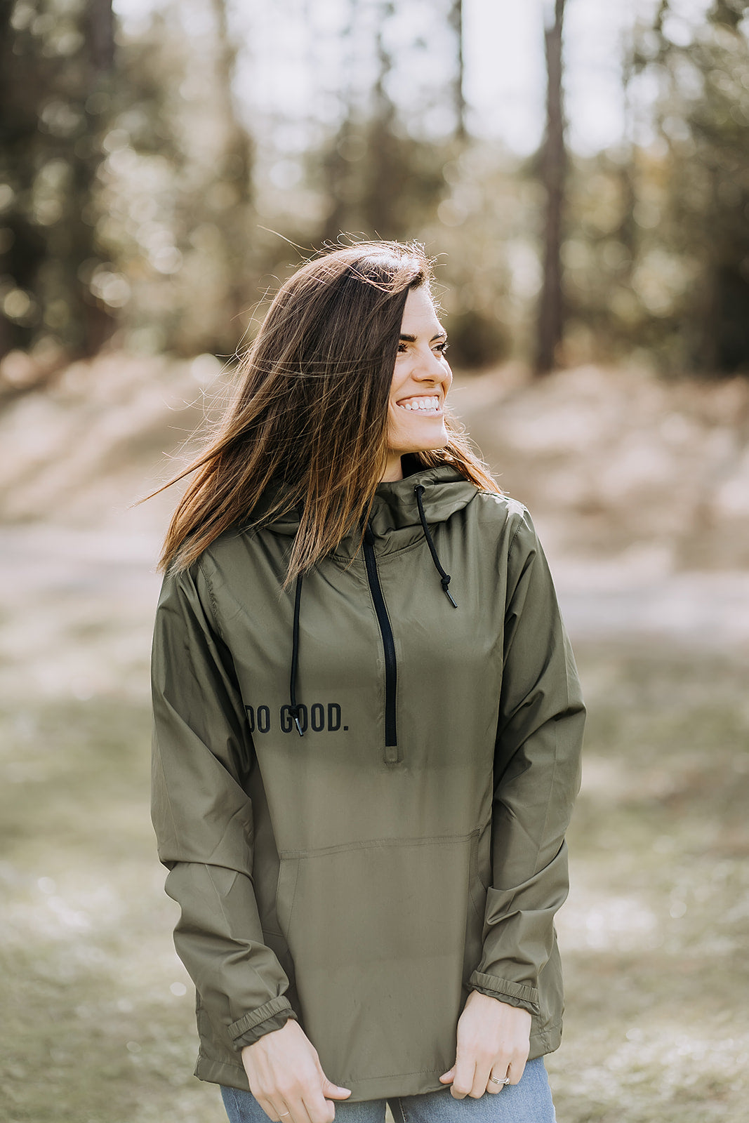 Do Good Unisex Windbreaker - Army Green