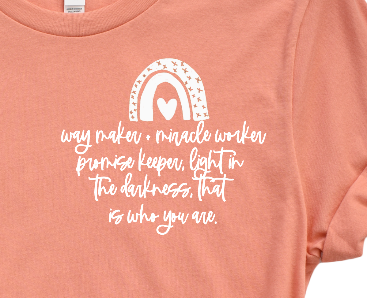 Way Maker + Miracle Worker.... Pocket Style Tee