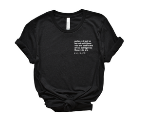 justice will not be served UNISEX pocket style tee