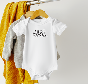 Shop Local + Love Jesus onesie