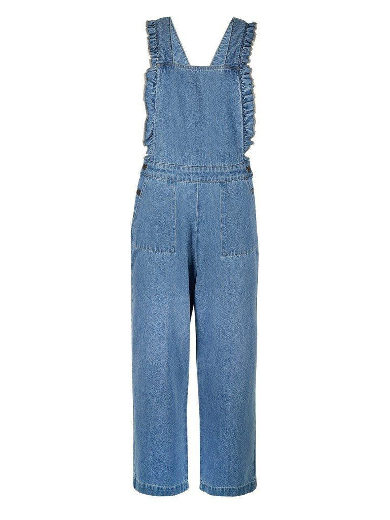Blue Frill Dungarees by Oliver Bonas