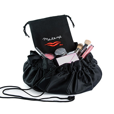 lay flat makeup bag