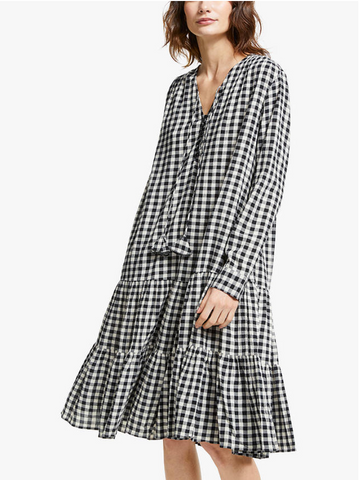 Sofia Check Print Dress - AND/OR at John Lewis
