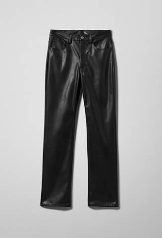 Voyage PU Trousers in Black