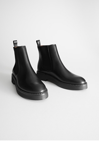 black Chelsea boots - and other stories