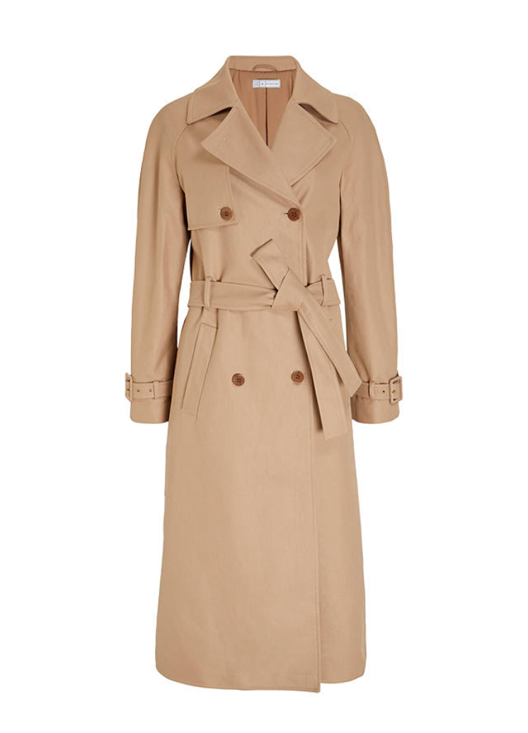 Mother of Pearl Pleat Back Trench Coat