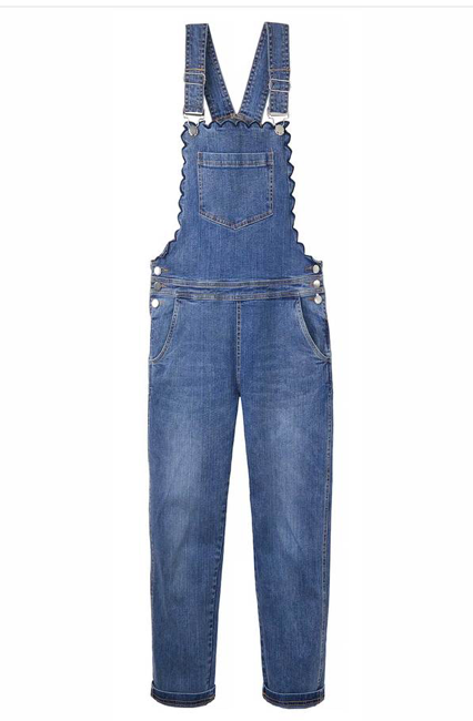 Scarlett Scallop Dungaree by Wyse London
