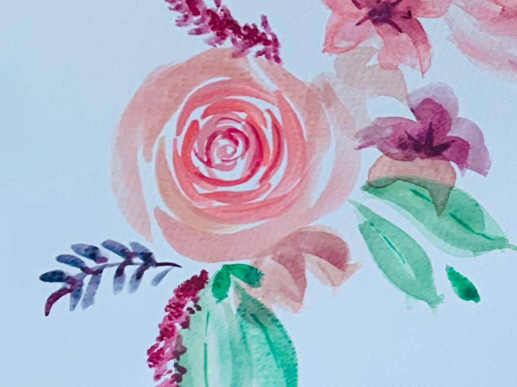 Donna Clitheroe Rose Painting