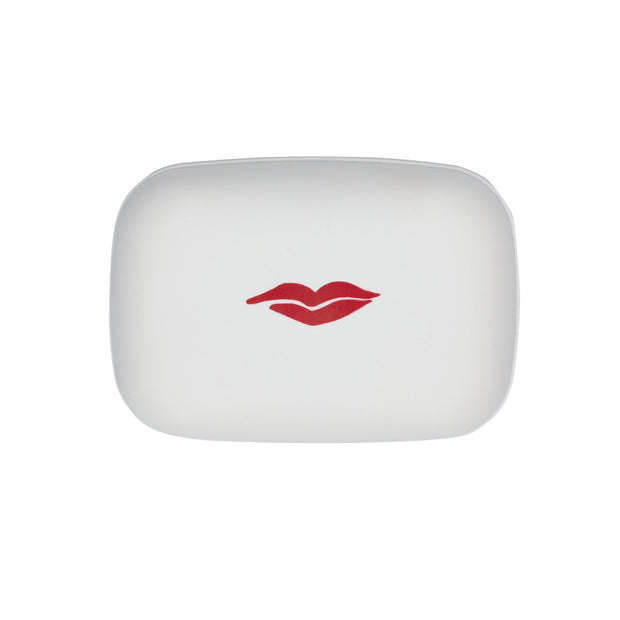 Beauty Box in White with Red Lip
