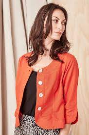 Amalifi Jacket Orange