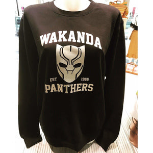 Wakanda Panthers Sweater, Vinyl Print
