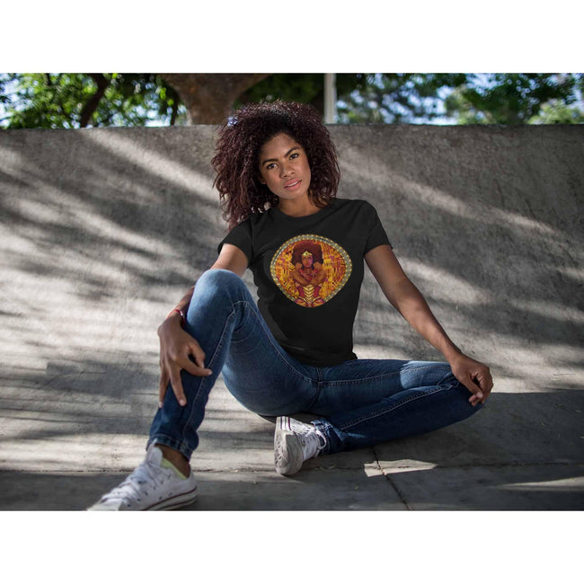 Blacknificent Printed Tee AMARA African Warrior Princess Unisex Tee
